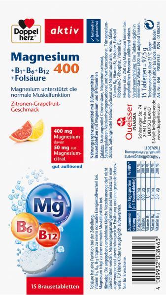 Doppelherz aktiv Magnesium 400 Brausetabletten