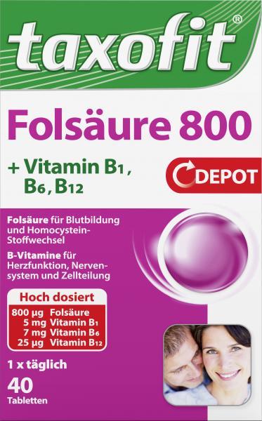Taxofit Folsäure 800
