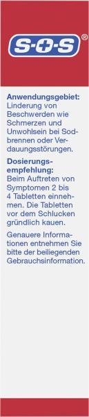 SOS Sodbrennen-Blocker Kautabletten