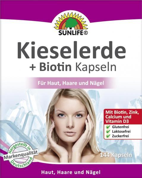 Sunlife Kieselerde + Biotin Kapseln