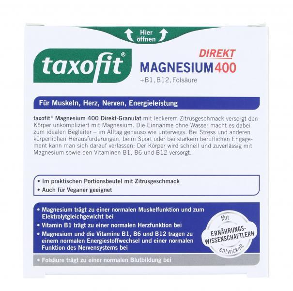 Taxofit Magnesium 400 direkt Granulat