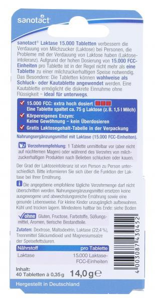 Sanotact Laktase 15.000 Tabletten extra hoch dosiert