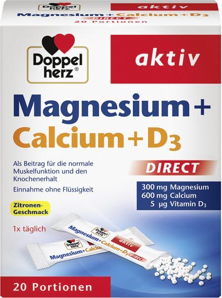 Doppelherz aktiv Magnesium + Calcium + D3