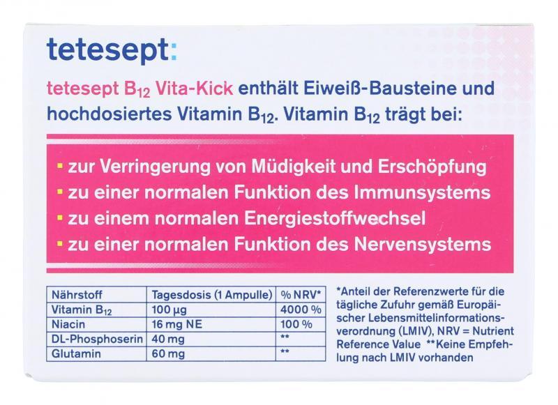 Tetesept B12 Vita-Kick Trinkfläschchen Himbeergeschmack