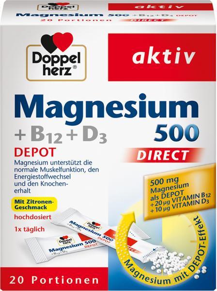 Doppelherz aktiv Magnesium 500 Depot + B12 + D3