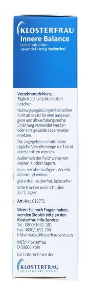 Klosterfrau Innere Balance Lutschtabletten Lavendel-Honig