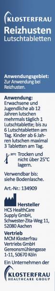 Klosterfrau Reizhusten Lutschtabletten Salbei-Honig