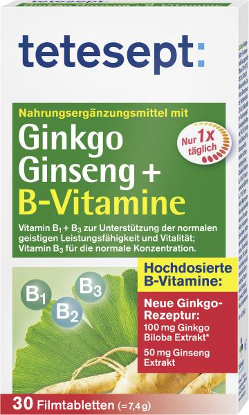 Tetesept Ginkgo Ginseng+ B Vitamine