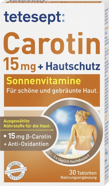 Tetesept Carotin 15mg + Hautschutz Sonnenvitamine