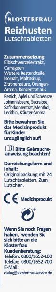 Klosterfrau Reizhusten Lutschtabletten Orangengeschmack
