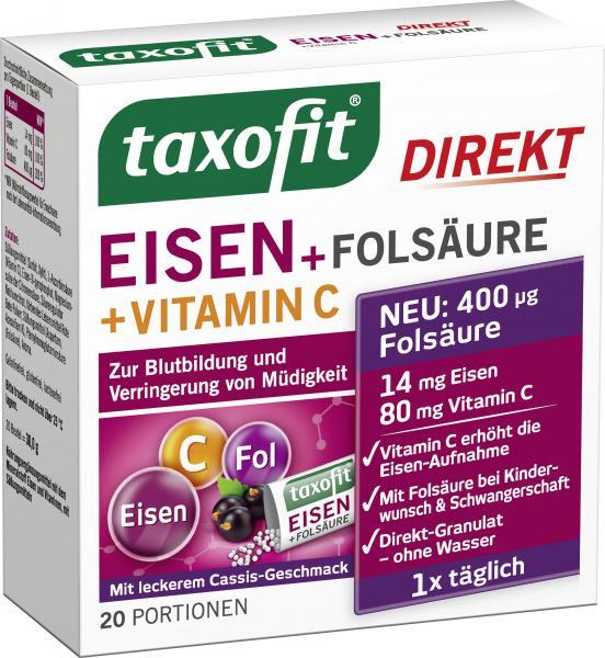 Taxofit Eisen + Folsäure + Vitamin C Direkt Granulat