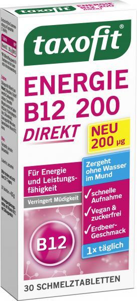 Taxofit Energie B12 200 Direkt Schmelztabeltten