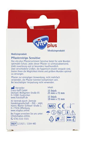 Vita plus Pflasterstrips Sensitive