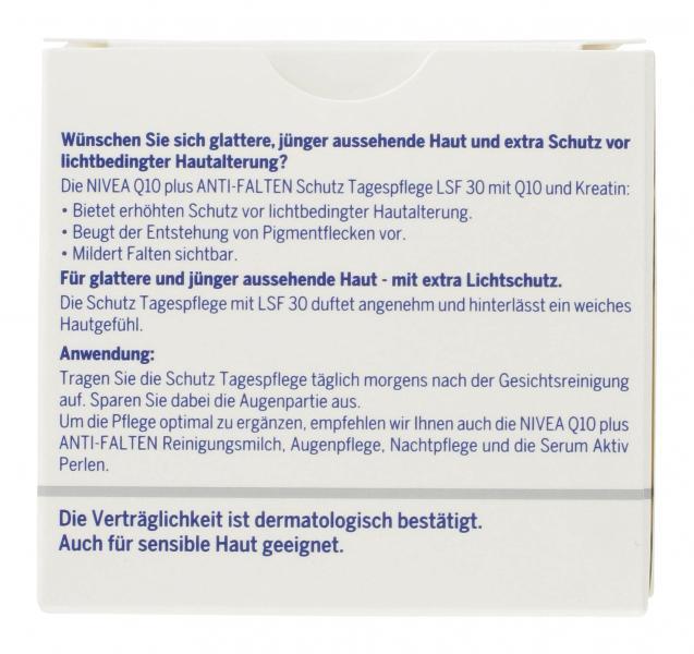 Nivea Q10 Plus Anti-Falten Tagespflege LSF 30
