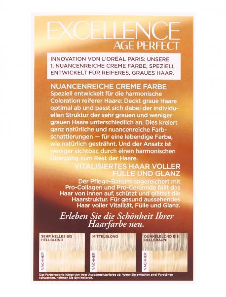 L'Oréal Excellence Age Perfect 9.31 helles Goldblond