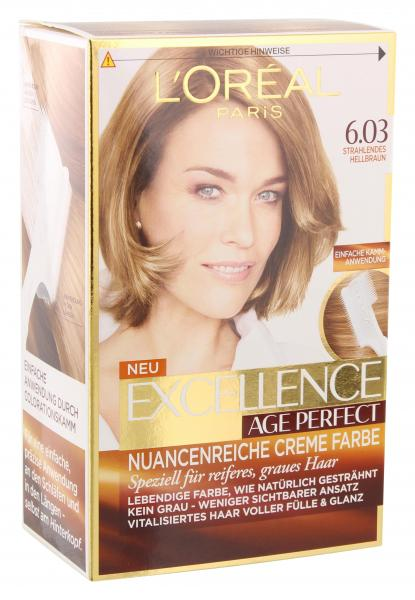 L'Oréal Excellence Age Perfect 6.03 strahlendes Hellbraun