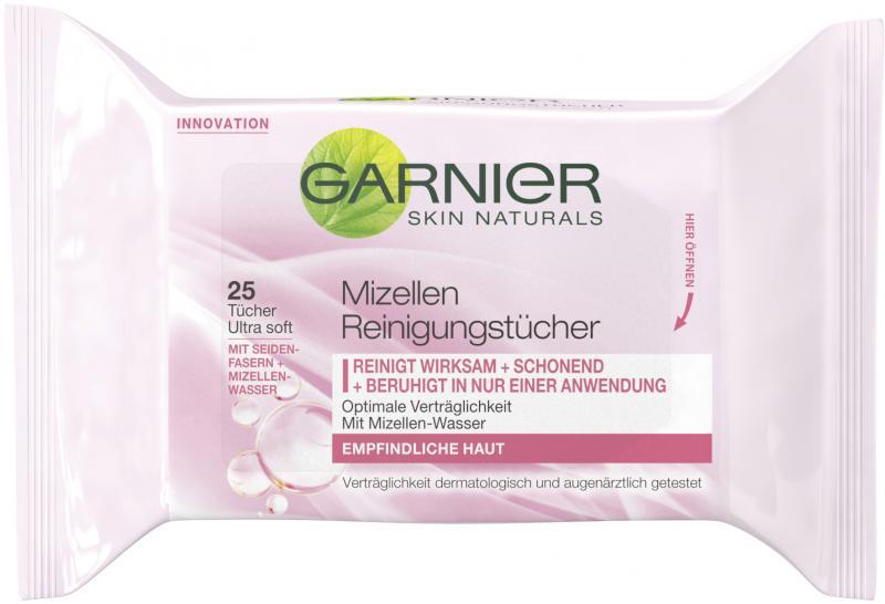 Garnier Skin Naturals Mizellen Reinigungstücher empfindliche Haut