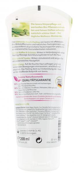 Lavera Dusch-Peeling mit Grünem Kaffee, Grüntee, Trauben & Rosmarin