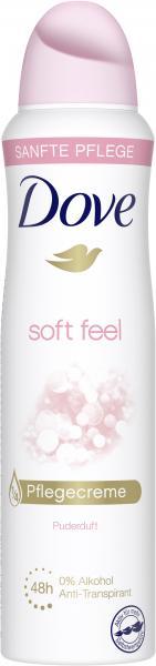 Dove Soft feel Deo Spray warm powder scent