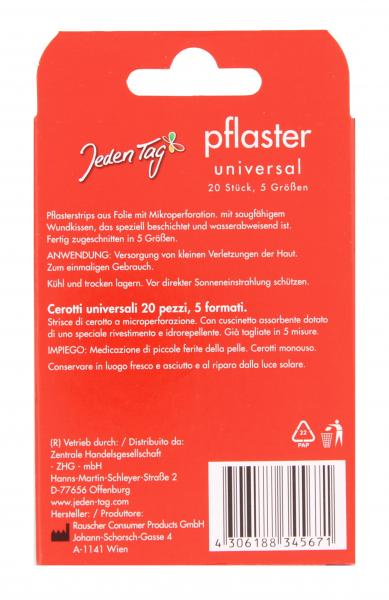 Jeden Tag Pflaster Universal