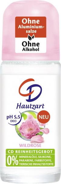 CD Deo Roll-On Hautzart Wildrose