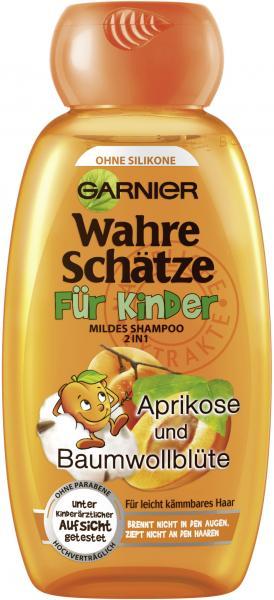 Garnier Wahre Schätze Shampoo für Kinder Aprikose und Baumwollblüte