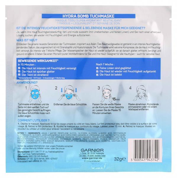 Garnier Skin Active Hydra Bomb Tuchmaske Granatapfel