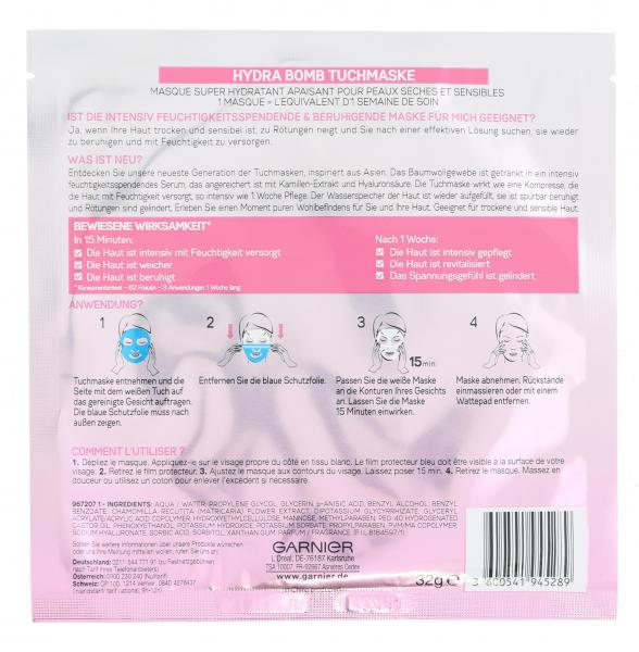 Garnier Skin Active Hydra Bomb Tuchmaske Kamille