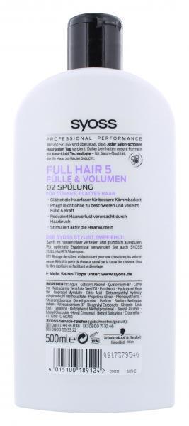 Syoss Full Hair 5 Fülle und Volumen Spülung
