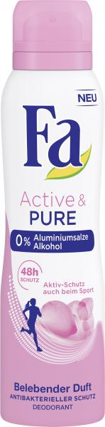 Fa Deo Spray Active & Pure Belebender Duft