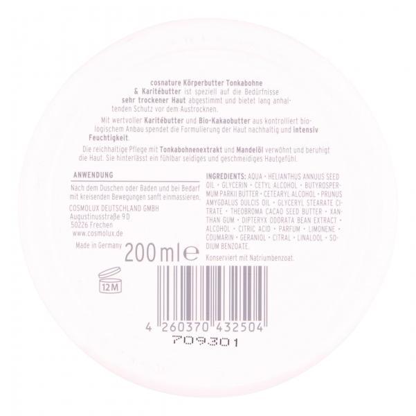 Cosnature Körper-Butter Tonkabohne & Karitébutter