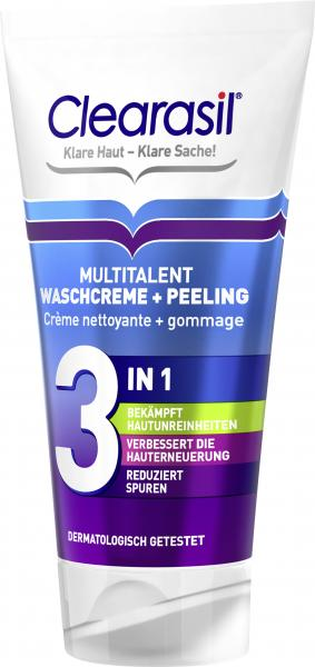 Clearasil Multitalent Waschcreme & Peeling 3in1