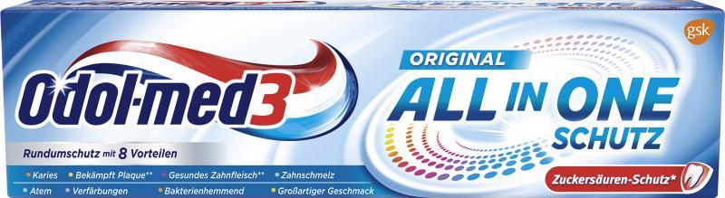 Odol-med3 Zahncreme Original All in One Schutz