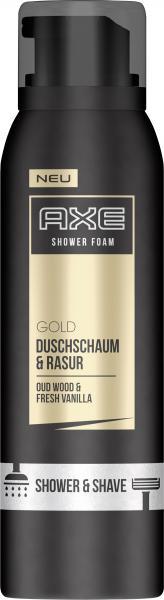Axe Gold Duschschaum & Rasur Oud Wood & Fresh Vanilla