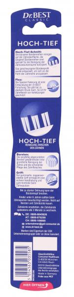 Dr. Best Zahnbürste Hochtief weich