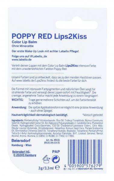 Labello Lips2Kiss Poppy Red