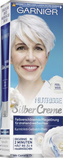 Garnier Nutrisse Pflegetönung Silber Creme Perlweiß