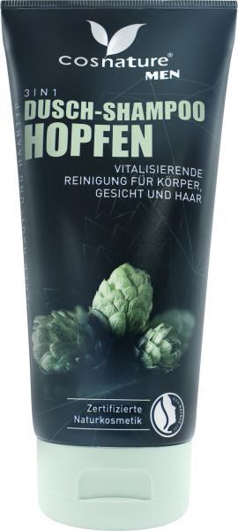 Cosnature Men 3in1 Dusch-Shampoo Hopfen