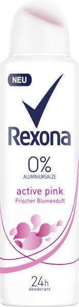 Rexona Active Pink Frischer Blumenduft Deo Spray