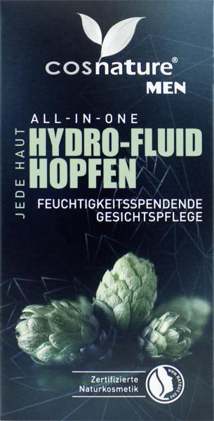 Cosnature Men Hydro-Fluid Hopfen Gesichtspflege