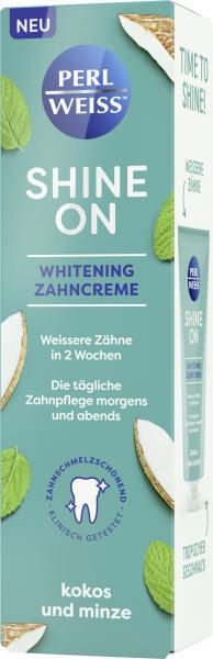 Perlweiss Shine On Whitening Zahncreme Kokos und Minze