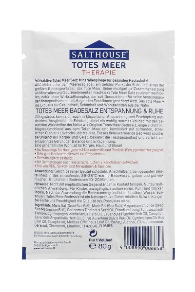 Salthouse Totes Meer Therapie Badesalz Entspannung & Ruhe