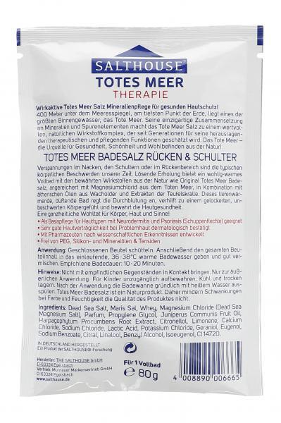Salthouse Totes Meer Therapie Badesalz Rücken