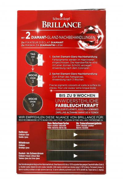 Schwarzkopf Brillance Color-Creme 925 Kaffee Braun