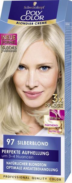 Schwarzkopf Poly Color Creme-Haarfarbe 97 Silberblond