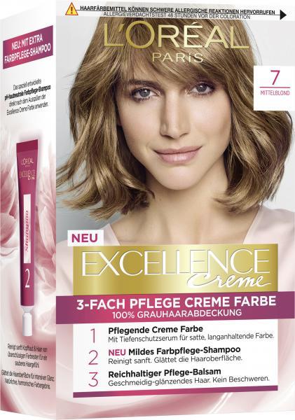 L'Oréal Excellence 7 Mittelblond