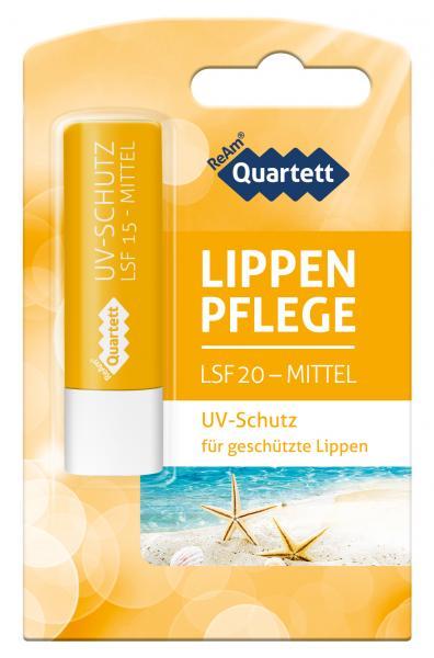 ReAm Quartett UV-Schutz Lippen Pflege LSF 20