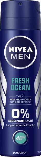 Nivea Men Fresh Ocean 0% Aluminium Deo Spray