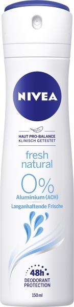 Nivea Fresh Natural 0% Aluminium Deo Spray
