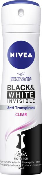 Nivea Deo Spray Black & White Invisible Clear